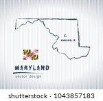 maryland national vector... | Shutterstock .eps vector #1043857183