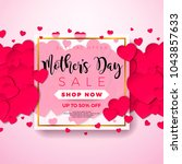 happy mothers day greeting card ... | Shutterstock .eps vector #1043857633