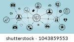 healthcare modern flat... | Shutterstock .eps vector #1043859553