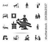 man silhouette sitting in... | Shutterstock .eps vector #1043863537