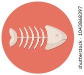 dead fish skeleton flat design...   Shutterstock .eps vector #1043868397