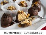 homemade healthy chocolate... | Shutterstock . vector #1043868673