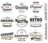 vintage retro vector logo for... | Shutterstock .eps vector #1043875717
