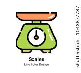 scales line color icon | Shutterstock .eps vector #1043877787