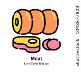 meat line color icon | Shutterstock .eps vector #1043877823