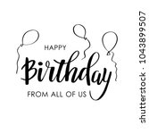 happy birthday greeting card... | Shutterstock .eps vector #1043899507