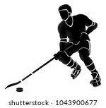 sports illustration of an ice... | Shutterstock .eps vector #1043900677