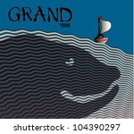 seascape. sailing boat on the... | Shutterstock .eps vector #104390297