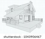 the cottage drawing on a... | Shutterstock .eps vector #1043906467