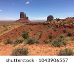 iconic view on monument valley... | Shutterstock . vector #1043906557