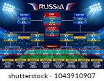 Russia 2018 world cup Football world cup championship groups. Vector flag collection. 2018 soccer world tournament in Russia. World football cup. Nations flags info graphic. | Shutterstock vector #1043910907