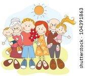 happy family | Shutterstock .eps vector #104391863