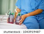 the woman patient is on the bed ... | Shutterstock . vector #1043919487