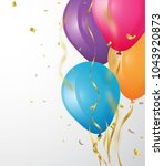 birthday background with... | Shutterstock .eps vector #1043920873