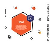 www infographic icon | Shutterstock .eps vector #1043931817