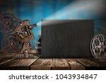 cinema concept of vintage film...   Shutterstock . vector #1043934847