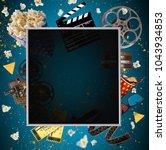 cinema concept of vintage film... | Shutterstock . vector #1043934853