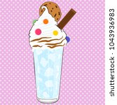 iced drink. summer drink.... | Shutterstock .eps vector #1043936983