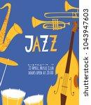 vector musical instruments for... | Shutterstock .eps vector #1043947603