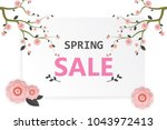 spring flower sale promotion... | Shutterstock .eps vector #1043972413