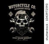motorcycle vintage logo emblem... | Shutterstock .eps vector #1043972593