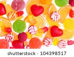 colorful jelly candies... | Shutterstock . vector #104398517