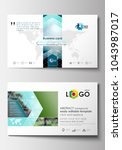 business card templates. flat... | Shutterstock .eps vector #1043987017