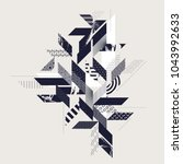 abstract modern geometric... | Shutterstock .eps vector #1043992633