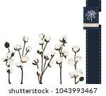 vector flower greeting banner... | Shutterstock .eps vector #1043993467