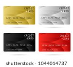 modern credit card  business... | Shutterstock .eps vector #1044014737