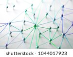 linking entities. networking ... | Shutterstock . vector #1044017923