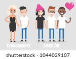 different types of sexuality ... | Shutterstock .eps vector #1044029107
