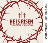 vector easter banner with words ... | Shutterstock .eps vector #1044036553