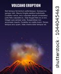 volcano eruption with lava... | Shutterstock .eps vector #1044045463