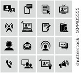 Communication icons set. - stock vector