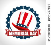 memorial day with hat usa   Shutterstock .eps vector #1044067597