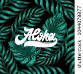 aloha. vector handwritten... | Shutterstock .eps vector #1044078877