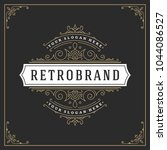 ornament logo design template... | Shutterstock .eps vector #1044086527