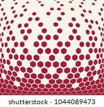 hexagon halftone geometric... | Shutterstock .eps vector #1044089473