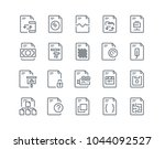 simple line icon set of file... | Shutterstock .eps vector #1044092527