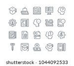 simple line icon set of... | Shutterstock .eps vector #1044092533