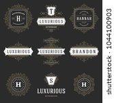 luxury logos templates set ... | Shutterstock .eps vector #1044100903