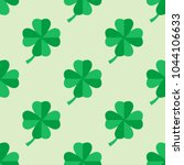 seamless pattern with four leaf ... | Shutterstock .eps vector #1044106633