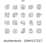 security well crafted pixel... | Shutterstock .eps vector #1044117217