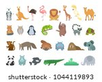 baby animals set. colorful... | Shutterstock .eps vector #1044119893
