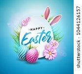 vector illustration of happy... | Shutterstock .eps vector #1044126157
