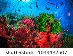 underwater life landscape | Shutterstock . vector #1044142507