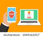 two steps authentication... | Shutterstock .eps vector #1044161017