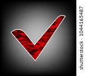 check mark  checkbox icon....   Shutterstock .eps vector #1044165487