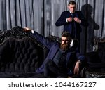 bearded man with confident face ... | Shutterstock . vector #1044167227